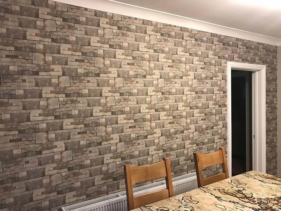 Lynam Painting Ltd - Brick Effect Wallpaper 1 (1)