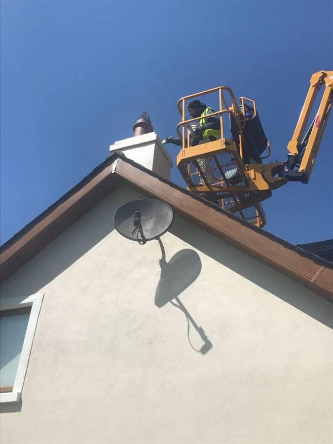 Lynam Painting Ltd - Painting Chimney on a Heist 1 (1)