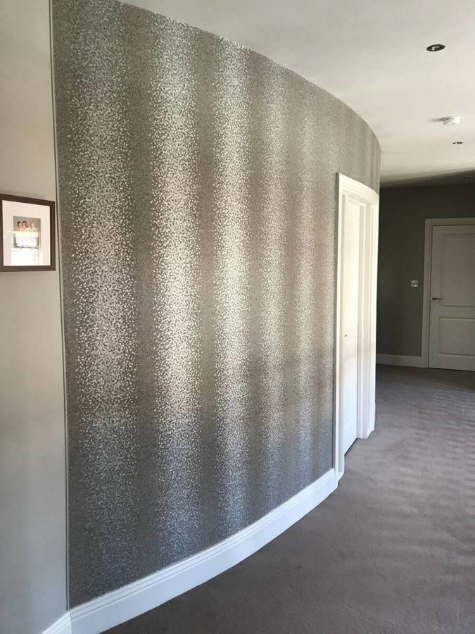 Lynam Painting Ltd - Wallpapering Curved Wall 1 (1)